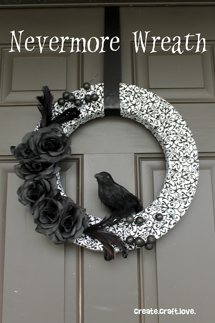 nevermore Halloween wreath (via createcraftlove)