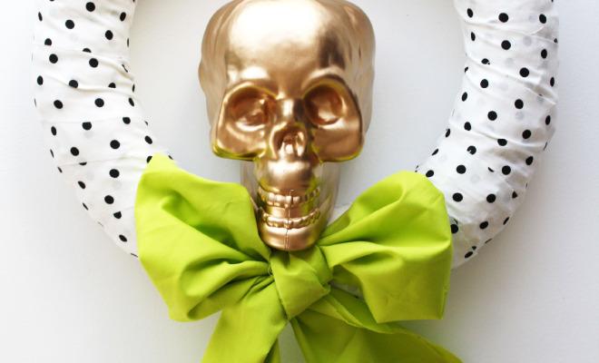 glam skull wreath