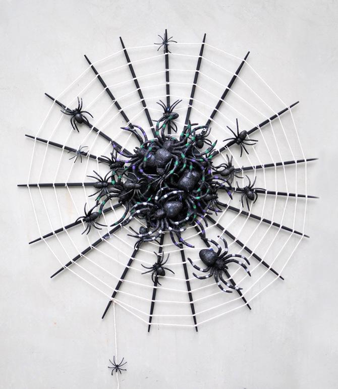 spider web wreath