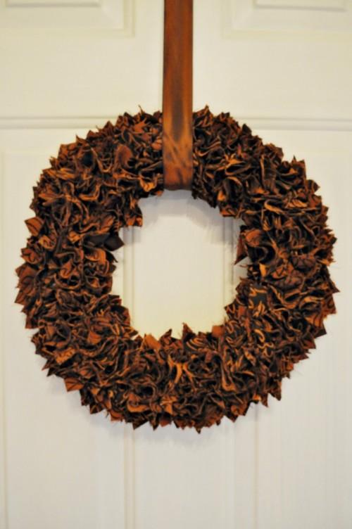 Scrap Fabric Thanksgiving Wreath