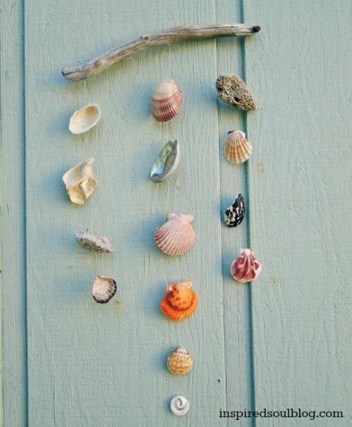 driftwood and shells mobile (via inspiredsoulblog)