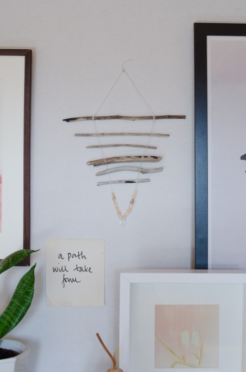 driftwood and beads mobile (via atilio)