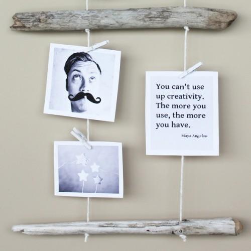 driftwood photo hanging (via morningcreativity)