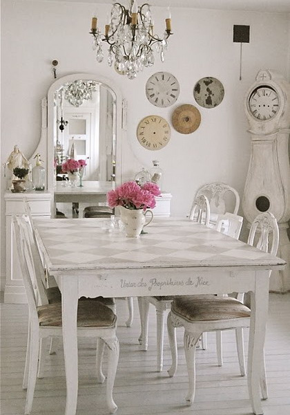 The main characteristic of shabby chic interior design is aged