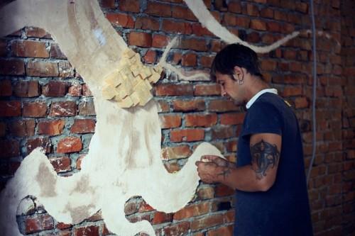 Shabby Chic Wall Art Of Cedar And Sackcloth