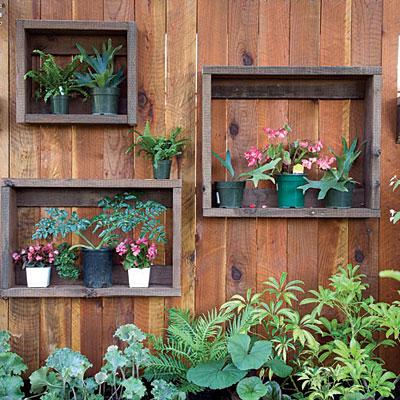 DIY Shadow Boxes On A Fence