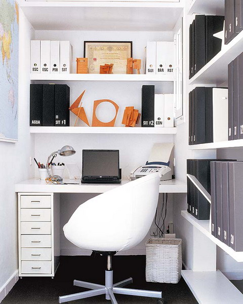 With floating shelves you could occupy all available space.