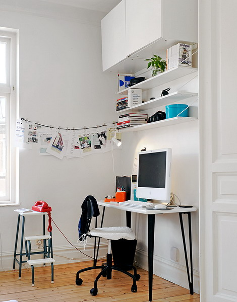 home office shelf. Combining Floating Shelving And Hanging Cabinets Is Also Possible. Home Office Shelf T