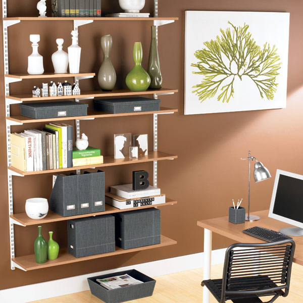 storage idea for a home office shelving units for a home office