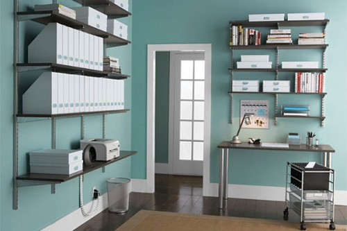 shelving units for a home office shelterness