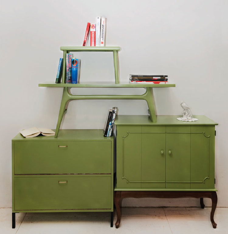 Shelving Units Of Vintage Tables