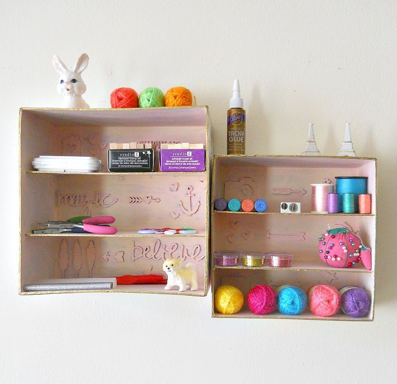 Picture Of simple and budget savvy shadow box storage  1