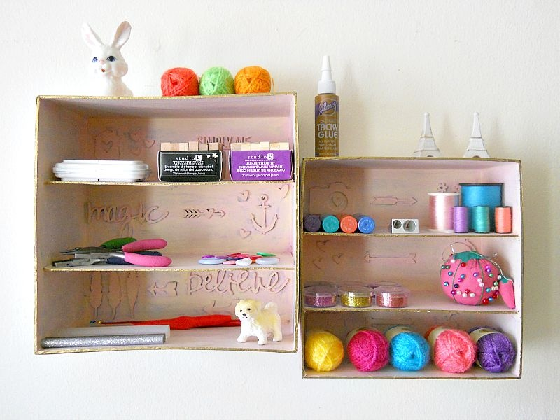 Picture Of simple and budget savvy shadow box storage  7