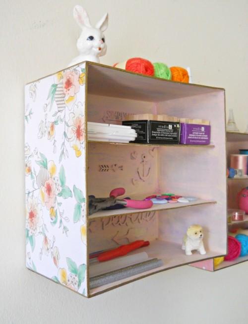 Simple And Budget Savvy DIY Shadow Box Storage