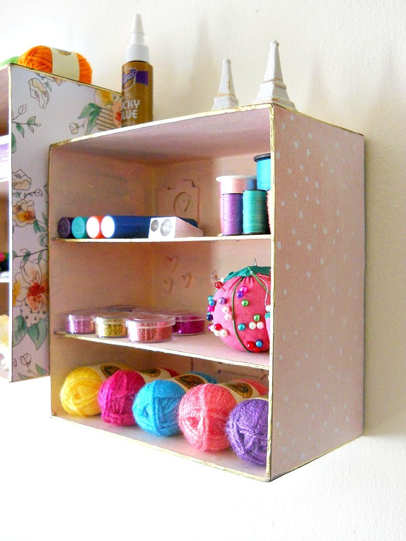 Picture Of simple and budget savvy shadow box storage  9