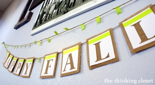 HAPPY FALL banner (via thinkingcloset)