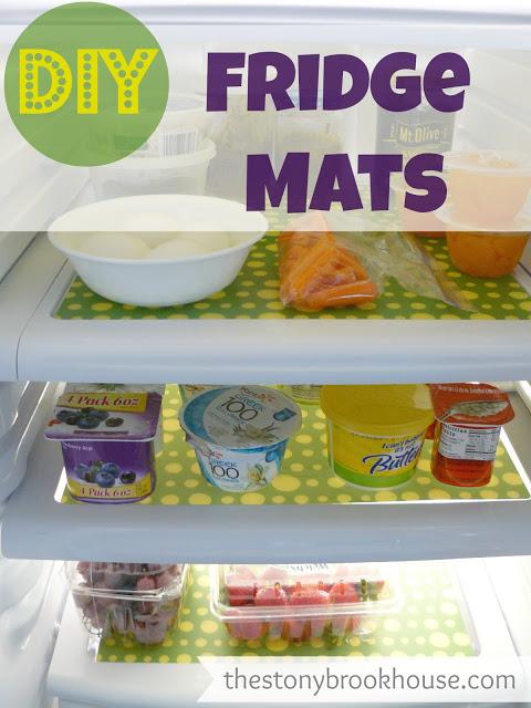green and yellow fridge mats (via thestonybrookhouse)