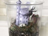 haunted house Halloween terrarium