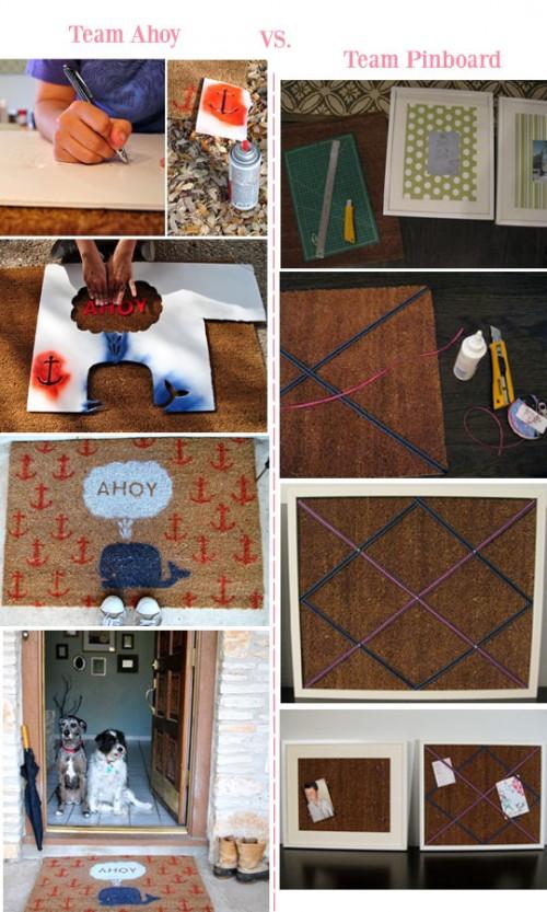 painted doormat (via fellowcreatives)