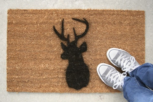 10 simple and cute diy entryway doormats