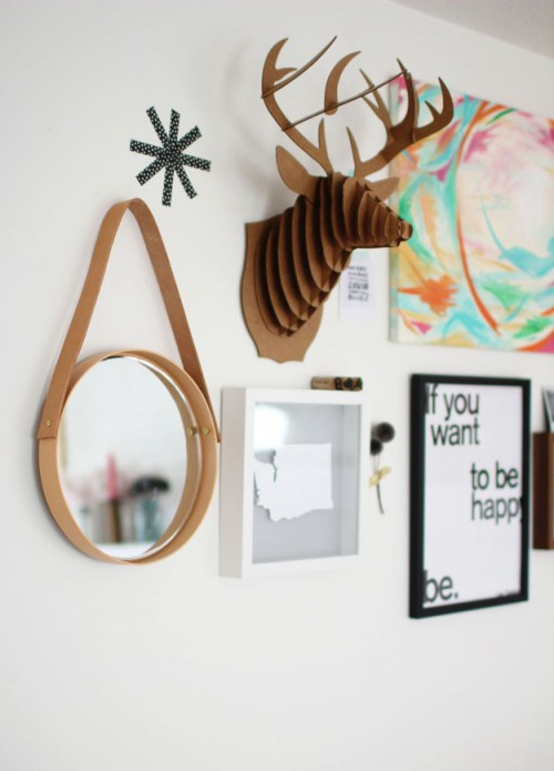 Simple And Modern Diy Hanging Mirror