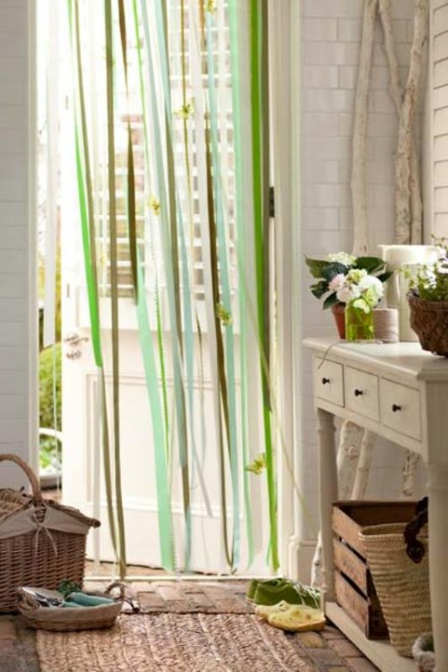 Simple And Quick DIY Ribbon Curtain Shelterness