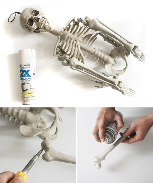 Simple And Spooky Diy Bones For Halloween Decor