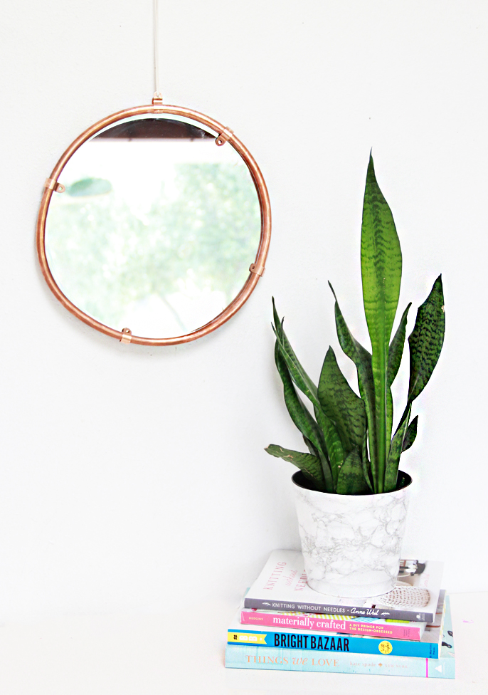 Picture Of simple and stylish diy copper edged mirror  3