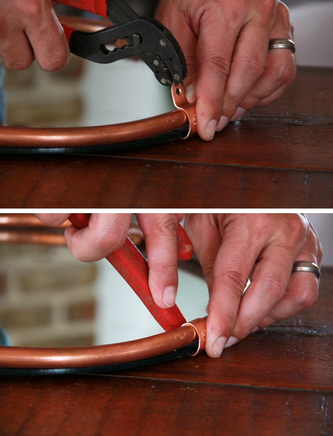 Picture Of simple and stylish diy copper edged mirror  6