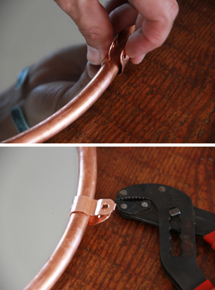 Picture Of simple and stylish diy copper edged mirror  7