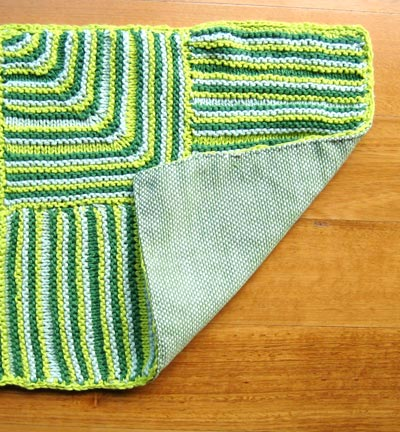 three color knit rug (via slipslipknit)