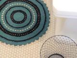 round crocheted bath rug