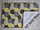 easy fabric bath mat