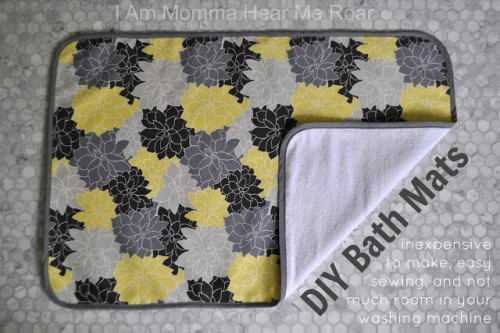 easy fabric bath mat (via iammommahearmeroar)