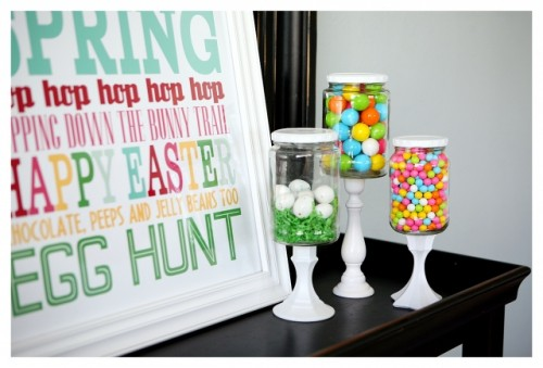 Simple DIY Candy Buffet Jars