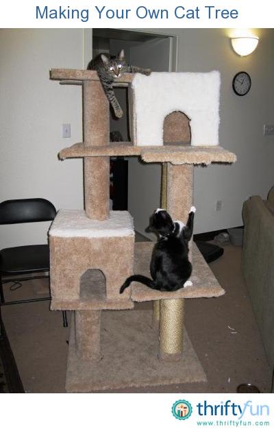 making a fluffy cat tree (via thriftyfun)