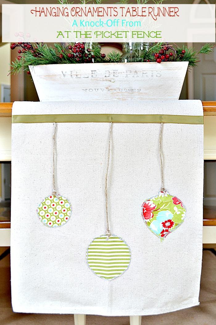 ornaments table runner