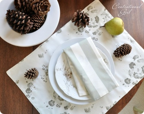 simple winter placemats