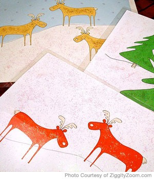 Christmas paper placemats (via parenting)