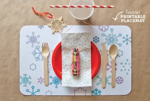 printable winter placemats