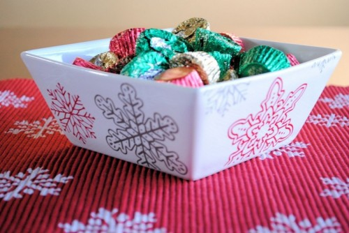 Simple Diy Christmas Stenciled Centerpiece