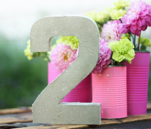 Simple Diy Concrete Table Numbers