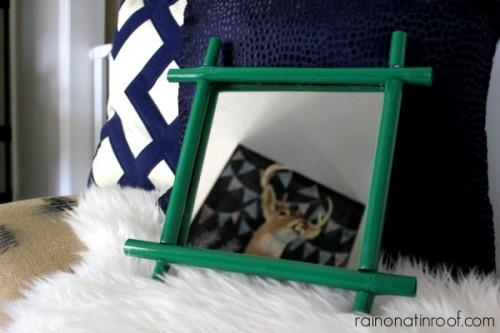 colorful bamboo mirror (via rainonatinroof)