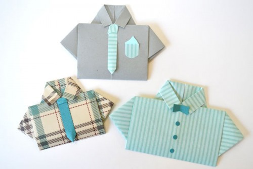 shirt with a tie card