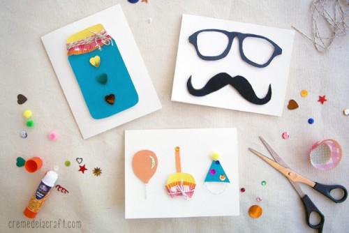 3D greeting cards (via cremedelacraft)