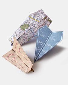 paper air plane cards (via marthastewart)