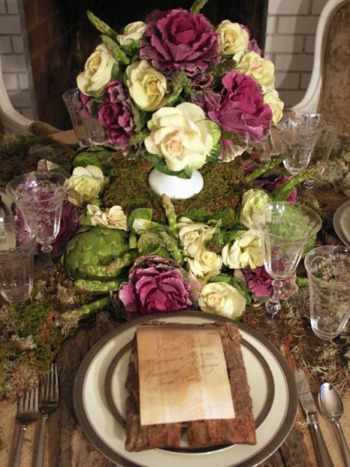 asparagus centerpiece (via hgtv)