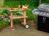 rolling grill table