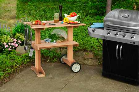 Wonderful Rolling Grill Table