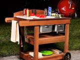 grill wood cart